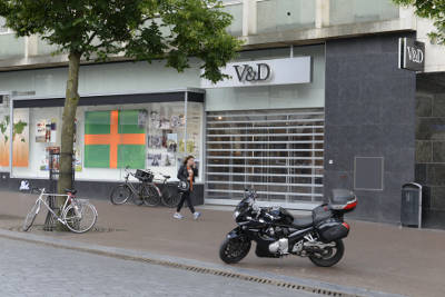 Foto leegstaand V&D Nijmegen